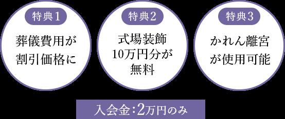 3つの特典